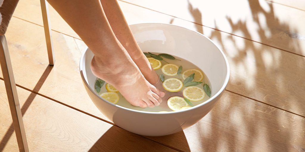 Skin care of feet with no secrets