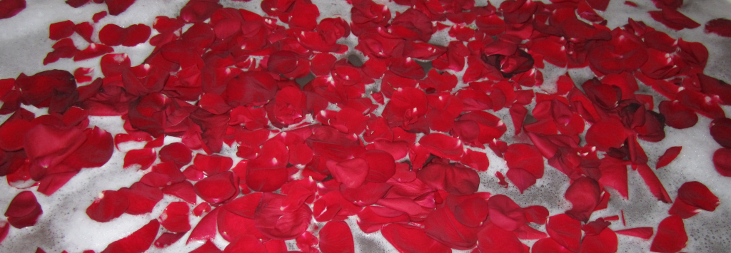 A Bath in a Rose Petals