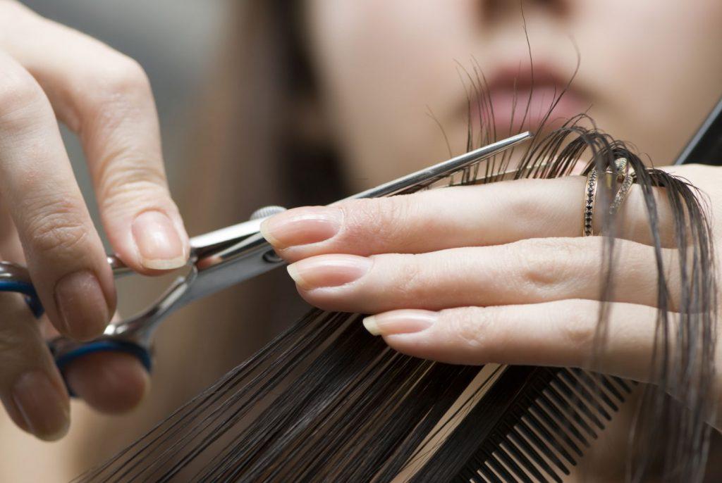 cut dry hair